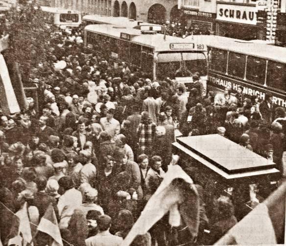 Einweihung der Fussgängerzone 1973