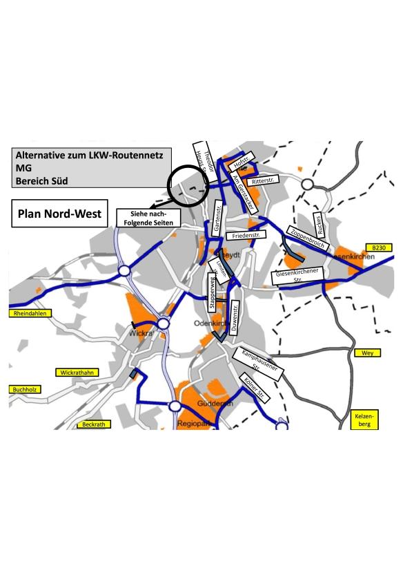 LKW-Routennetz - Bereich Süd