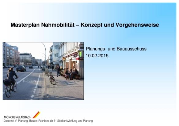 Masterplan Nahmobilität Deckblatt